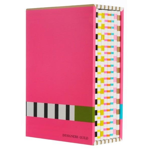 Box com 8 Cadernos Listrados Designers Guild - R$ 78,00