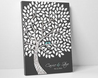 Huéspedes alternativos libro árbol invitadas libro Ideas boda alternativa alternativa de libro de visitas libro de visitas de lona boda libro de visitas