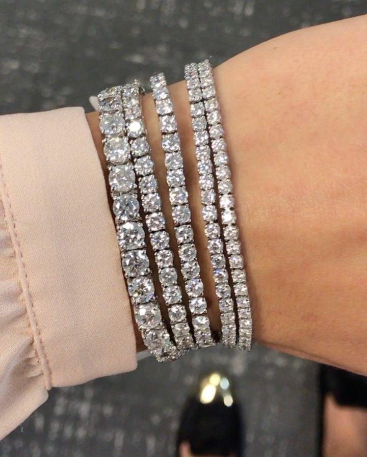 Diamond Tennis Bracelets By Ring Concierge Tennis Bracelet Diamond Diamond Bracelet Design Diamond Bracelet