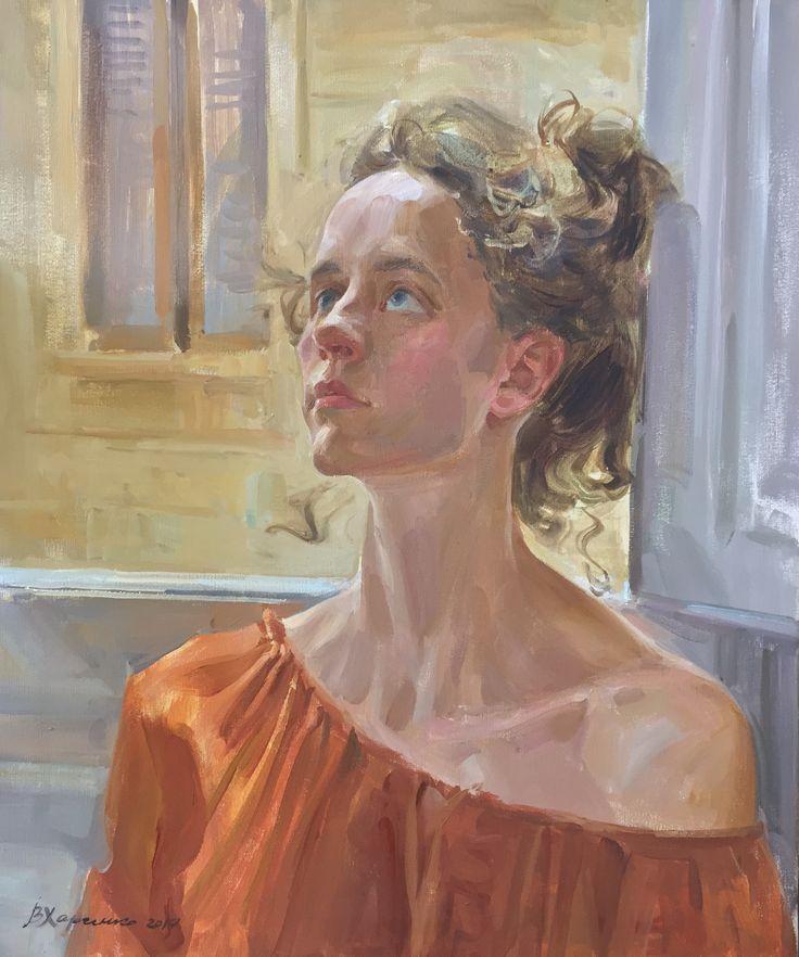 Portrait painting by Victoria Kharchenko