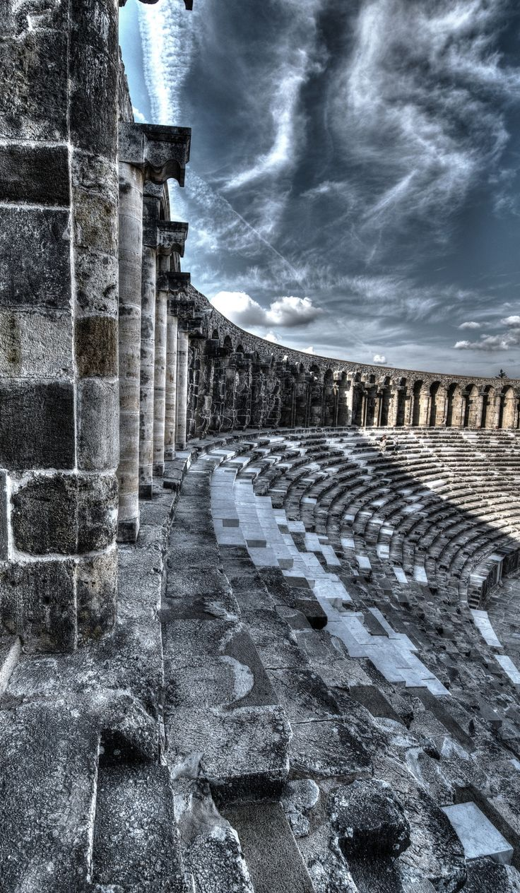 Aspendos outside by Vedat Hadi GÖYMEN -Aspendos was an ancient city in Pamphylia, Asia Minor, located about 40 km east of the modern city of Antalya, Turkey.