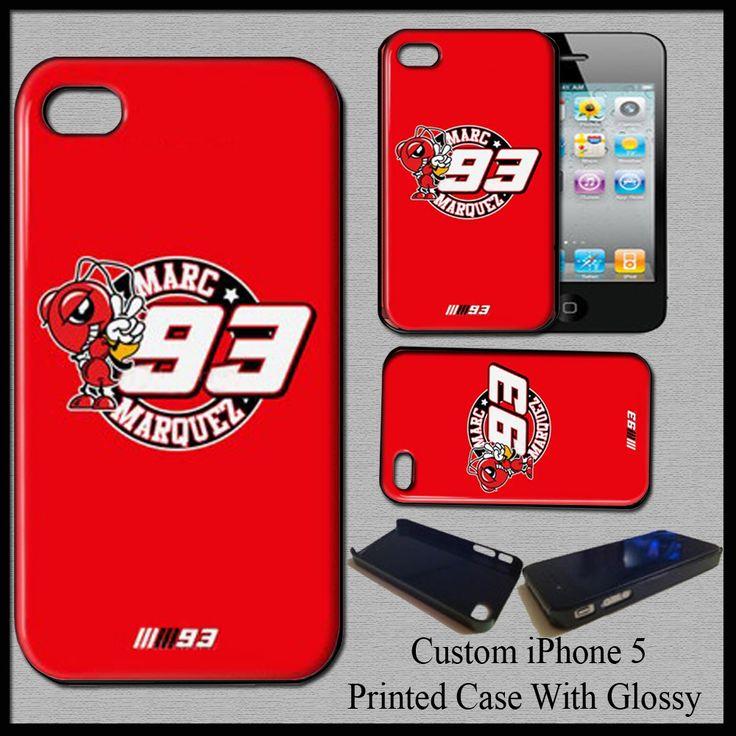 New Marc Marquez MotoGp Champion Repsol Honda MM93 Hard Cover Case For iPhone 5