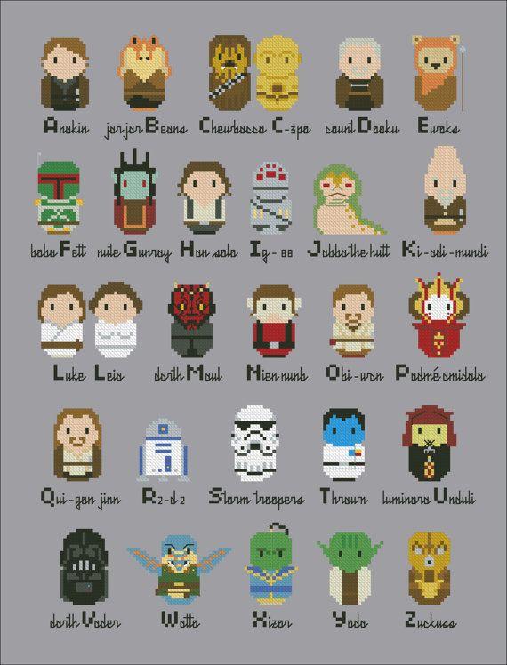 ... Alphabet Sampler, Star Wars Perler Beads, Sampler Pdf, Parody De, Wars