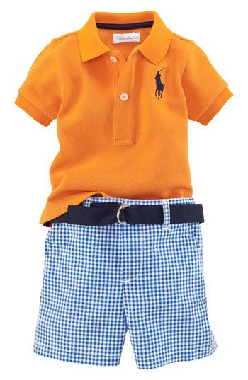 Free shipping and returns on Ralph Lauren Polo & Gingham Shorts Set (Infant) at Nordstrom.com. A sporting ensemble pairs a preppy pony-logoed polo with dashing seersucker shorts and a matching D-ring belt.