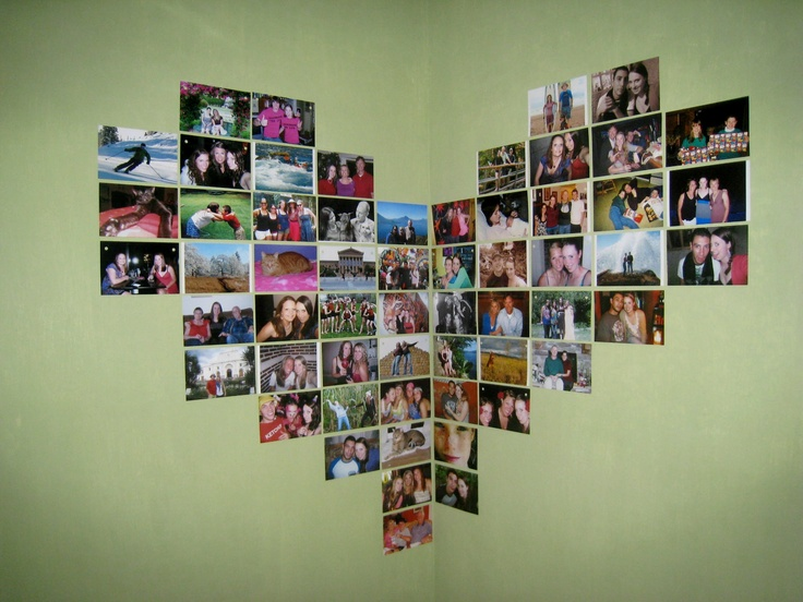 corner heart collage!: Bedrooms Pictures Collage, Heart Collage, Dorm Room, Cool Idea, Collage Projects, Collage Offices, Collage With Pictures, Dorm Idea, Concerts Tickets
