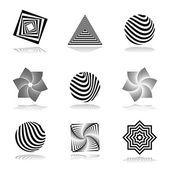 Conjunto de elementos de diseño. iconos gráficos abstractos — Archivo Imágenes Vectoriales