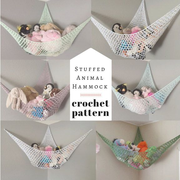 PATTERN // Crochet Stuffed Animal Hammock // by TogetherInLove