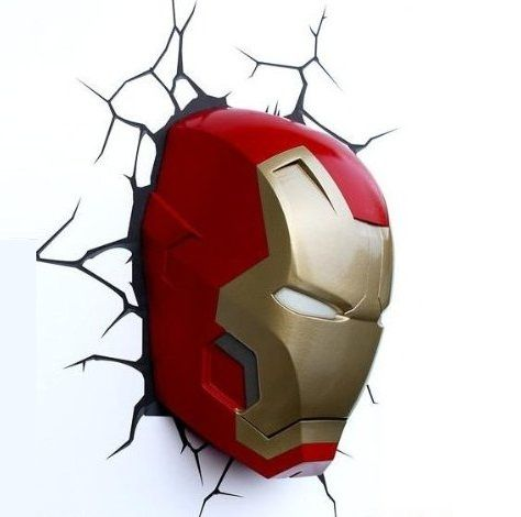 Iron Man Mask 3D Deco Light - $56 #home #wall #cool #fan #movie #red
