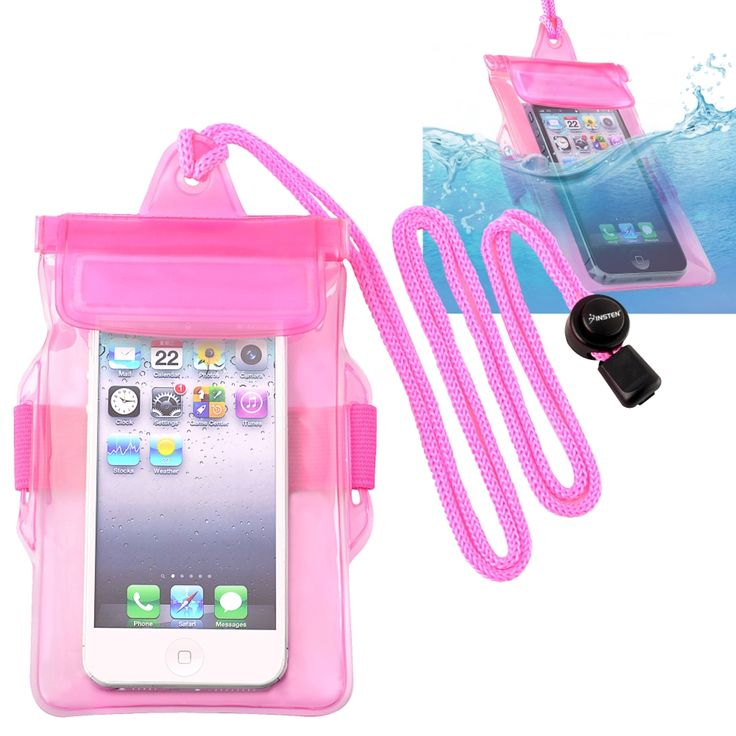 Insten Universal Waterproof Pouch Dry Bag Case with Armband Lanyard for Cell phones, Hot Pink