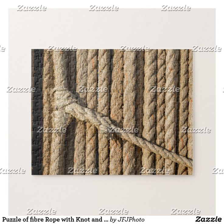 Puzzle of fibre Rope with Knot and Splicing