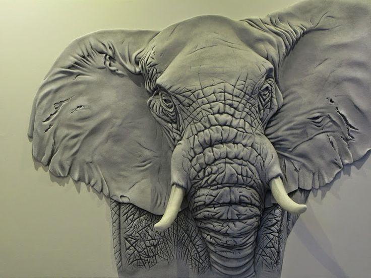 объемные рисунки животных представим