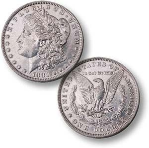 Check out this Pricebenders auction!  Last time, this Morgan Silver Dollar (1878-1904; 1921)--Set Of Two sold for just $11.85 (a 85% savings!)!