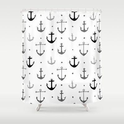 Anchor Shower Curtain by Miriam Sironi - $68.00