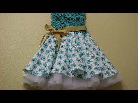 Vestido Circular con Blusa Tejida - YouTube