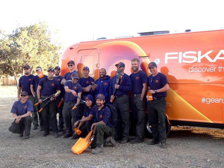 We met the Hot Shots on our trip across the country! #gearup #fiskars www2.fiskars.com