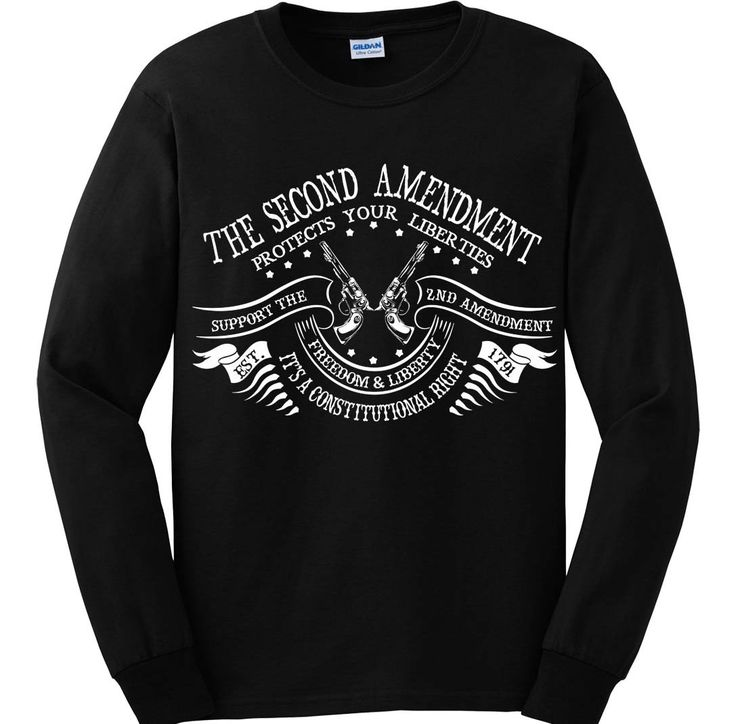 """Bundle of 3 items. The Second Amendment Protects Your Liberties. 4XL Black L. Bundle of 3 items: T-shirt, Pocket Constitution & 4.5"""" decal. Official Sons of Liberty Tees® Gear. Printed in USA. Second Amendment / Pro Gun T-Shirts. Screen Printed on a Long Sleeve Port and Company shirt, imported. 6.1 oz. 100% Pre-Shrunk Cotton Tee. Second Amendment / Pro Gun T-Shirts, Pro-America and Patriot Apparel - made by a small American owned business, by a couple of die hard patriots. Long Sleeve…"""