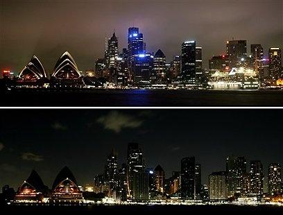 Earth Hour 2010, Sydney Australia