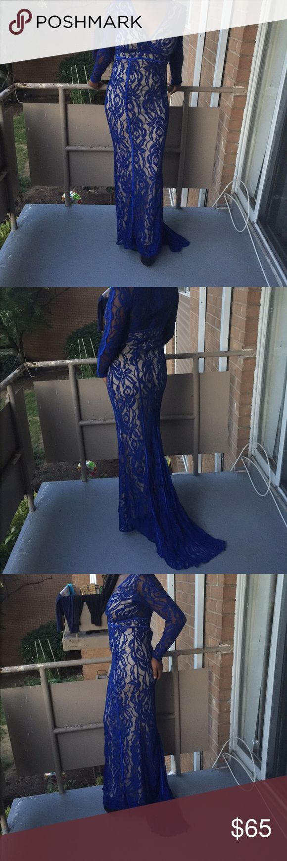 Royal blue party dress The right dress for classy events. Dresses Long Sleeve
