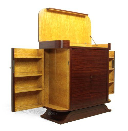 208 best images about art deco cocktail cabinet on pinterest for Birds eye maple kitchen cabinets