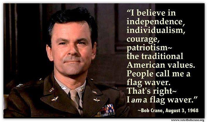 In honor of Memorial Day. Bob Crane as Colonel Hogan.
