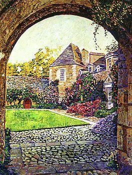 Courtyard Impressions Provence by David Lloyd Glover
