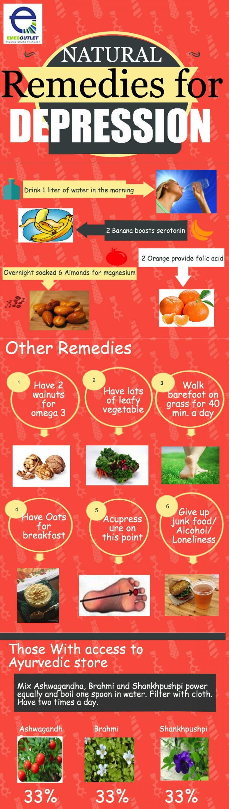 """Natural Remedies For Depression --shared by markturner415 on Aug 02, 2014 - See more at: visual.ly... 