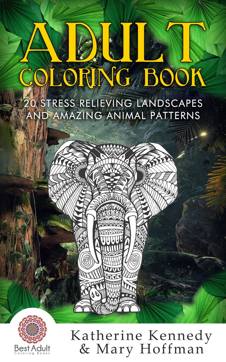 Free coloring pages landscapes printables - Our First Adult Coloring Book Is Finished With Great Animal And Landscape Designs For The