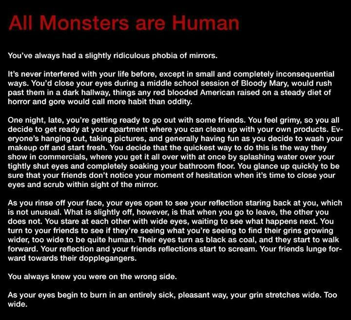 All Monsters are Human - Story