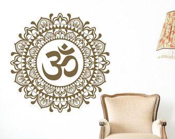 Mandala Wall Decal Bedroom- Mandala Vinyl Wall Decal Boho Bohemian Morrocan…