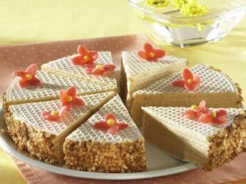 Karamelový oplatkový koláč