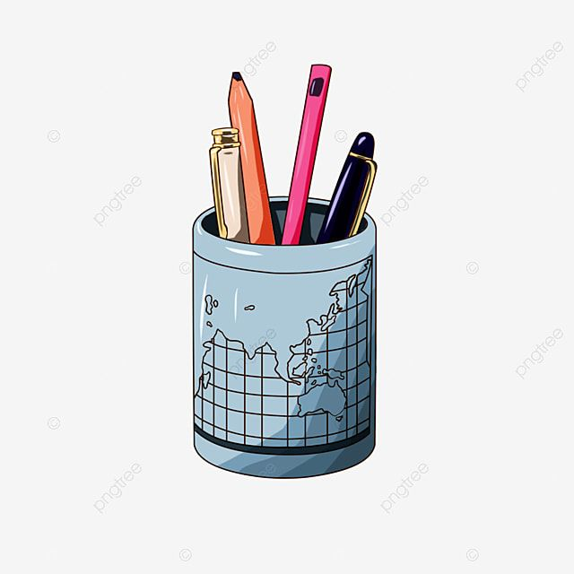 Pen Holder Pen Cylinder Hand Drawn Pen Holder Cartoon Pen Holder Pen Holder Illustration Pen Holder Design Png Transparent Clipart Image And Psd File For Fre How To Draw Hands Pen