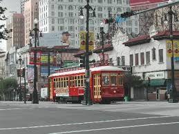 Basin Street in New Orleans, LA