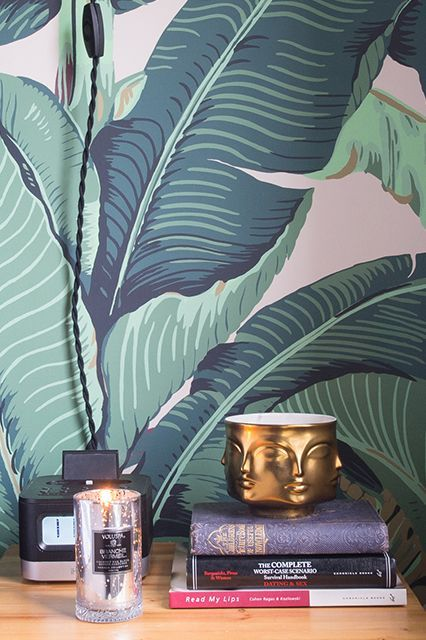 How to make weird wallpaper look insanely glamorous in your home