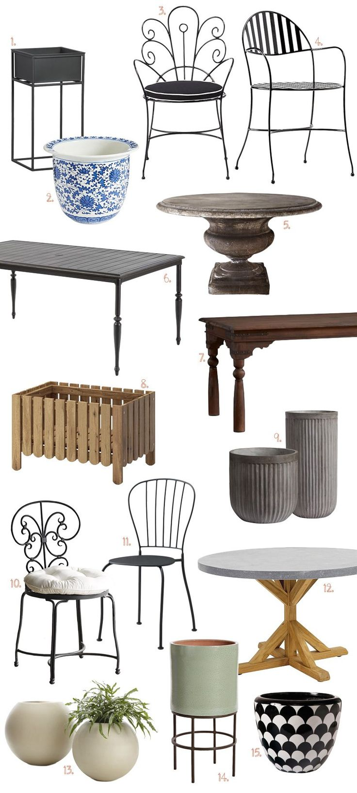 Best Victorian Outdoor Dining Furniture Ideas On Pinterest - Chantilly distressed dining table by little tree furniture