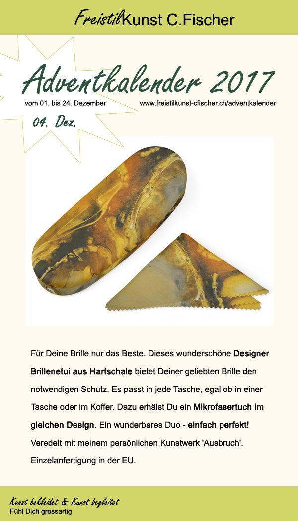 Mit diesen wunderschönen #brillenetui aus #hartschale bietest Du Deiner Brille den besten Schutz. Und es sieht richtig edel aus. Mit dazu erhälst Du das Brillentuch im gleichen #design.#adventkalender #shoppen #online #shopping #design #art #artwork #kunst #freistilkunstcfischer