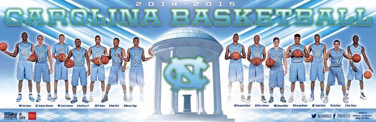 North Carolina Men's Basketball Poster (2014-2015)