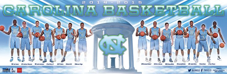 North Carolina Men's Basketball Poster (2014-2015)