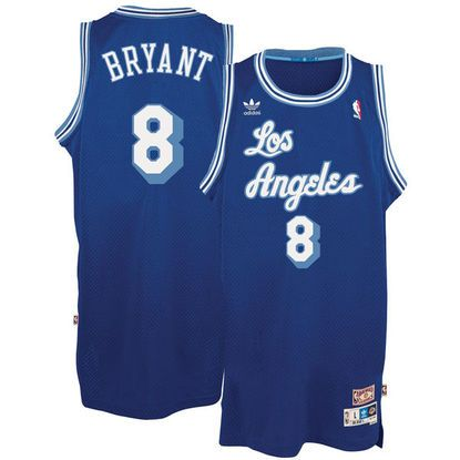 Men's Los Angeles Lakers Kobe Bryant adidas Blue Throwback Road Hardwood Classics Swingman climacool Jersey