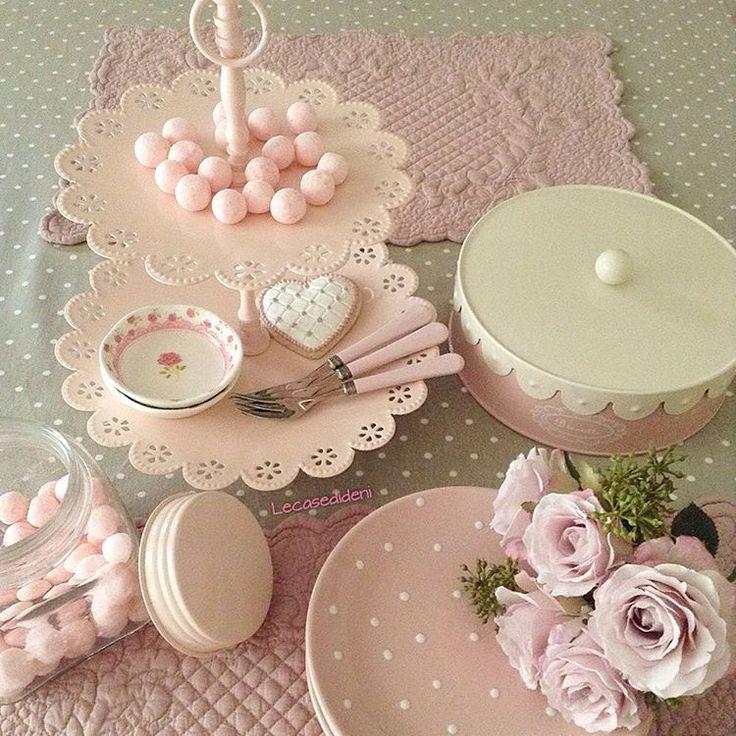 #pink#pois. Vintage KücheMimosenKawaiiBackenShabby ChicPastellFarbenKitchen  ...