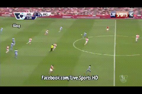 Arsenal 0-0 Manchester City: Danny Welbeck woodwork