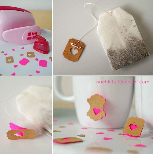 #valentine's day:  Nähkitz: DIY-Idee * Pimp your Teebeutel *