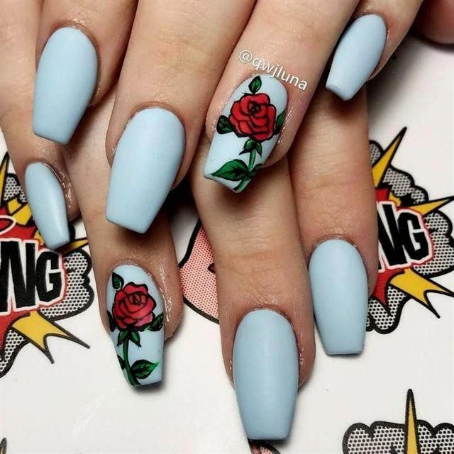 Want To Look And Feel Special On Nails This Year Choose Nail Designs That Best Describe Your Dynamic Personality And Let T Rose Nails Simple Nails Nail Colors