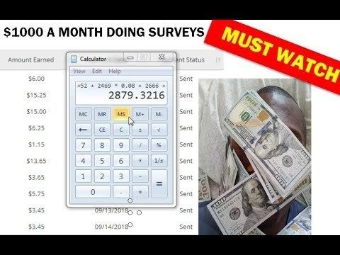 "How To Make Money Online ""Surveys For Money"" $1000 Monthly"
