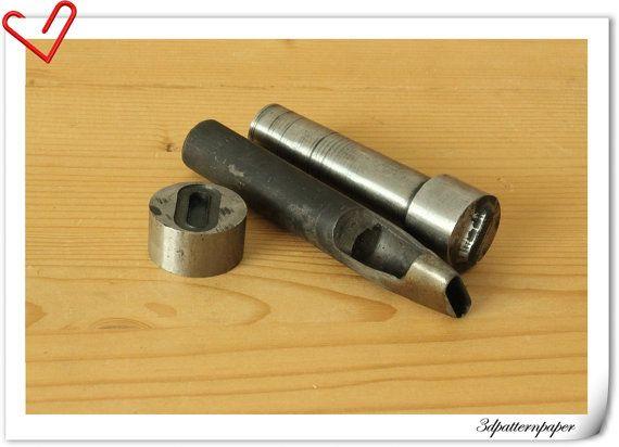 1.25  inch oval Grommet tool, oval eye tool, grommer eyelet setter,   oval eyelet setting tools S105