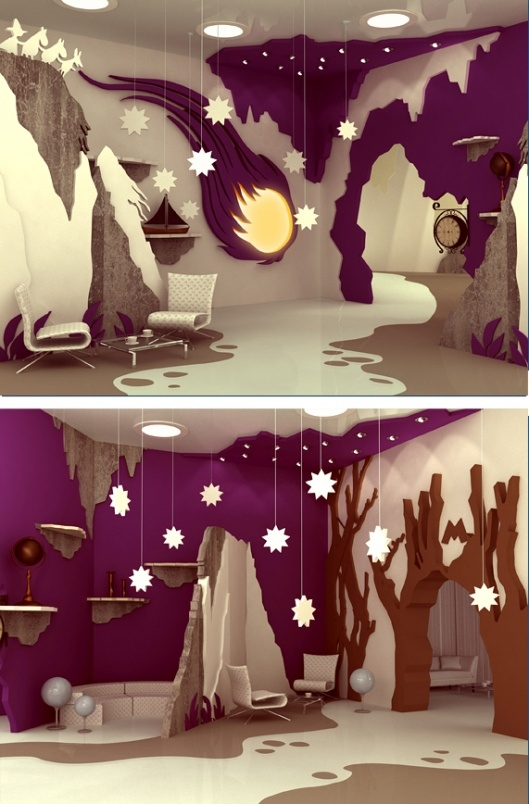 Moomin Valley by Maria Yasko, Cool Interior Design for a Family Entertainment Centre.