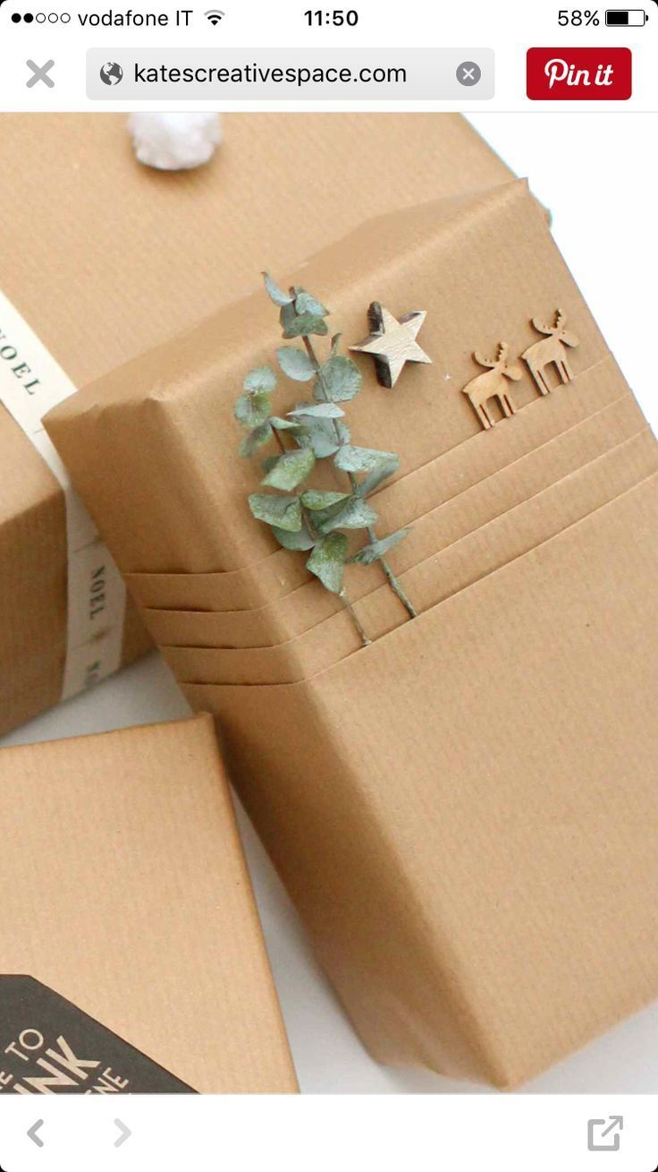 Fantastically pack presents with kraft paper