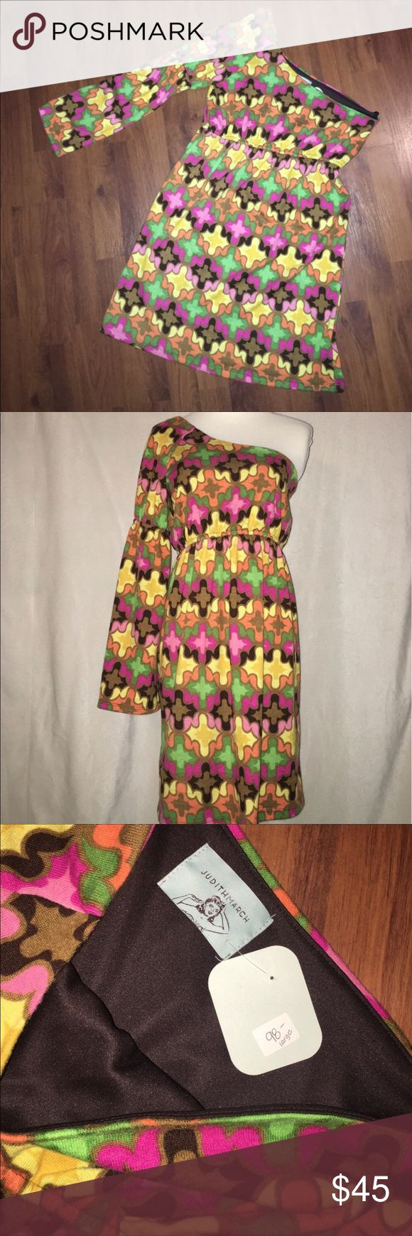 Judith March by Anthropology Dress 97% Polyester and 3% Spandex- New with tags - size large Anthropologie Dresses