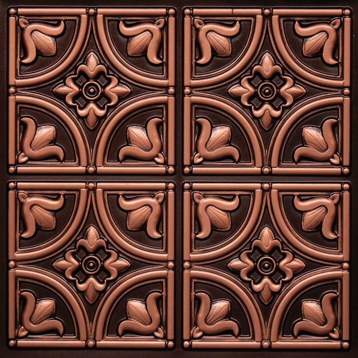 decorative ceiling tiles inc store tiny tulips faux tin ceiling tile glue up