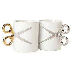Scissors Mugs Set Of 2, $18, now featured on Fab. For the hairdresser in your life