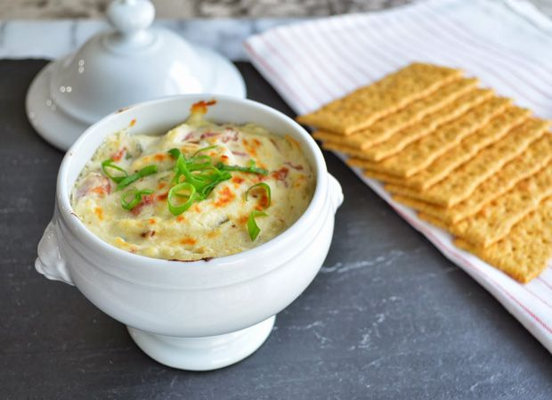 Warm-Blue-Cheese-and-Bacon-Dip Recipe - RecipeChart.com #Appetizer #Delicious #Dip #Savory #SoGood #Tasty #Yum
